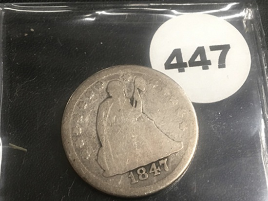 1847 Seated Quarter
