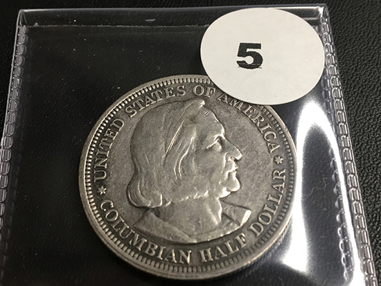 1893 Columbian Expo ½ dollar coin
