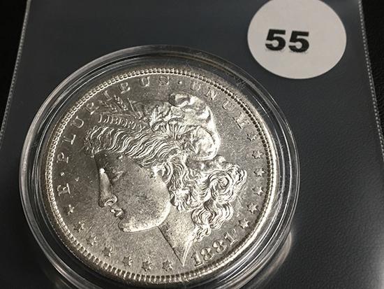 1881-S Morgan silver dollar Unc