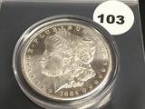 1884CC Morgan Silver Dollar GEM