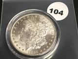 1884-0 Morgan Silver Dollar Unc