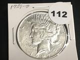 1927-S Peace Dollar AU