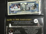Apollo 11 50th anniversary enhanced $2 note  Unc
