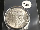 1885 Morgan silver dollar Unc