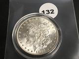 1887 Morgan silver dollar Unc