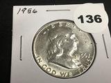 1956 Franklin half Unc