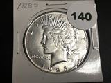 1928-S Peace dollar Unc