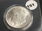 1888 Morgan silver dollar Unc