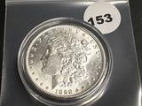 1898 Morgan silver dollar Unc
