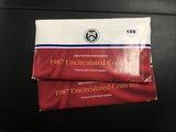 (2) 1987 P&D Mint sets