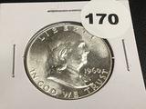 1960 Franklin half dollar Unc