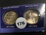 (2) P&D American innovators $1 coins Unc