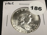 1962 Franklin half dollar Unc