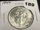 1944 Walking Liberty half dollar Unc