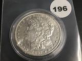 1887-O Morgan silver dollar Unc