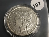 1889-0 Morgan silver dollar VF