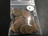 Bag of 36 Canadian pennies
