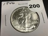 1946 Walking Liberty half dollar Unc