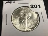 1946-D Walking Liberty half dollar Unc