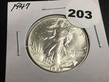 1947 Walking Liberty half dollar Unc