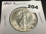 1947-S Walking Liberty half dollar Unc