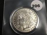 1900-0 Morgan silver dollar Unc