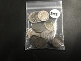 Bag of 19 Buf, V & war nickels plus 6 steel pennies