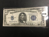1934 D Blue Seal $5