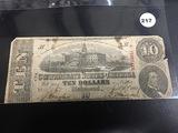 1863 Conferate $10 Note