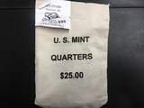 "Bag of $25 Illinois  ""D"" State quarters"