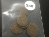 (6) Indian cent in bag '01 - '07