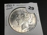 1922-D Peace dollar Gem