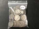 Bag of (80) old Jefferson nickels