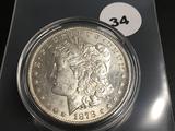 1878-S Morgan silver dollar Unc