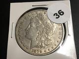 1879-0 Morgan silver dollar XF