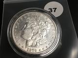 1879-S Morgan silver dollar GEM
