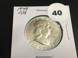 1949 Franklin half dollar Unc