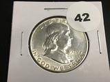 1949-S Franklin half dollar Unc