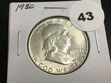 1950 Franklin half dollar Unc