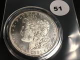 1880-S Morgan silver dollar Unc