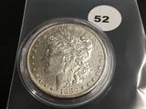 1880-0 Morgan silver dollar Unc