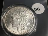 1882CC Morgan silver dollar Unc