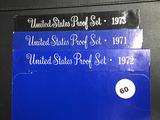 1971, 1972 & 1973 Proof Sets