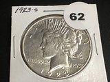 1923-S Peace dollar Unc
