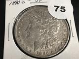 1880-0 Morgan silver dollar