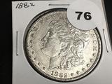 1882 Morgan silver dollar AU