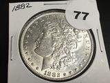 1882 Morgan silver dollar Unc