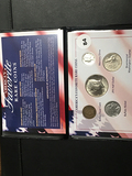Group of 6 Americans favorite coins, Ind head penny, Mercury dime 2018 Kennedy ½ $ Qtr & Buffalo ni