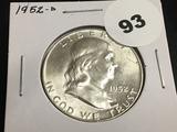 1952-D Franklin half dollar Unc