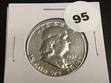 1951-D Franklin half dollar Unc